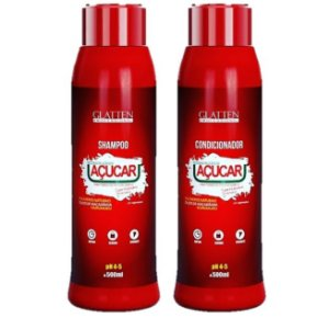 Glatten Professional - Açúcar Shampoo e Condicionador 500ml cada