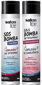 Salon Line - SOS Bomba de Vitaminas Explosão de Hidratação Shampoo + Condicionador 300ml cada