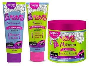 Salon line - #TodeCacho Tratamento pra Arrasar Kit Shampoo 200ml + Condicionador 200ml + Máscara 500g