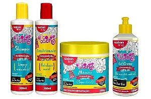 Salon Line - #TodeCacho Transição Capilar Kit Shampoo + Condicionador + Gel Creme (300ml cada)+ Máscara 500G