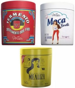 Portier - Linha Gourmet Kit Moça Bonita + Mealiza + Fermento 500g cada