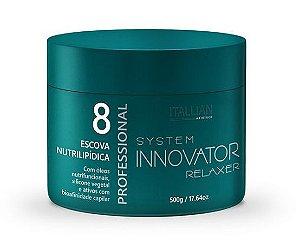 Itallian Hairtech - Innovator Relaxer 8 Escova Nutrilipídica 500g
