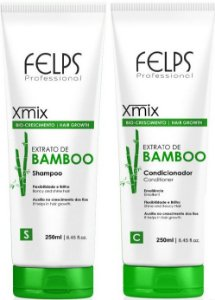 Felps - Xmix Bio Crescimento Extrato de Bamboo Shampoo + Condicionador 250ml cada Nova Embalagem
