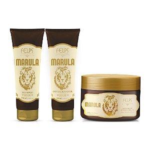 Felps - Marula Hipernutrição Kit Shampoo 250ml + Condicionador 250ml + Máscara 300g