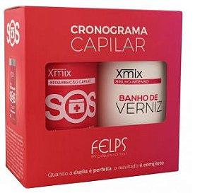 Felps - Kit Cronograma Lumiforce Banho de Verniz + SOS Xmix 1kg cada