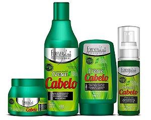 Forever Liss - Cresce Cabelo Kit Shampoo 500ml + Leave-in 140g + Máscara 250g + Tônico de crescimento Capilar 60 ml
