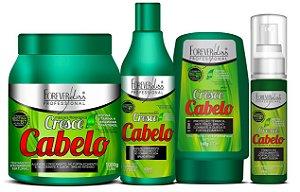 Forever Liss - Cresce Cabelo Kit Shampoo 500ml + Leave-in 140g + Máscara 1kg + Tônico de crescimento 60ml
