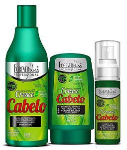 Forever Liss - Cresce Cabelo Kit Shampoo 500ml + Leave-in 140g + Tônico de Crescimento 60 ml