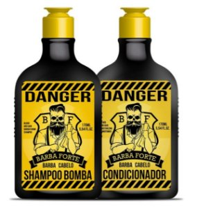 Barba Forte - Danger Kit Shampoo Bomba + Condicionador 170ml cada
