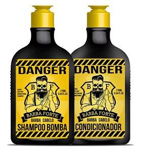 Barba Forte - Danger Kit Shampoo Bomba + Condicionador 170 ml cada