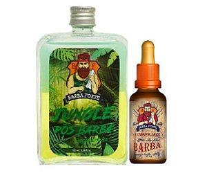 Barba Forte - Jungle Loção Pós Barba 100ml + Lumberjack Óleo para Barba 30ml