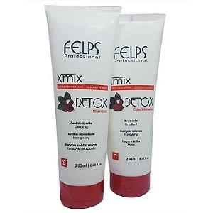 Felps - Xmix Detox Extrato de Guaraná Kit Shampoo e Condicionador 250ml Cada