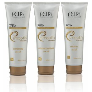 Felps - Xmix Smooth Nutrição Pós Química Kit Shampoo + Condicionador + Leave-in 250ml cada
