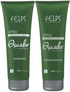 Felps - Xmix Quiabo Regenerador Capilar Kit Shampoo + Condicionador 250ml cada