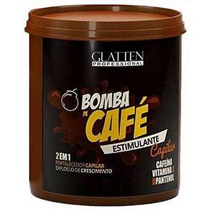 Glatten Professional - Bomba de Café Máscara Estimulante Capilar 500g