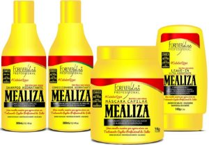 Forever Liss - Mealiza Kit Shampoo 300ml + Condicionador 300ml + Leave-in 140g + Máscara 1kg