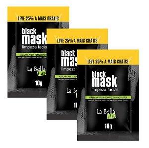 La Bella Liss - Black Mask Máscara Preta Removedora de Cravos 10g Kit com 3 unidades