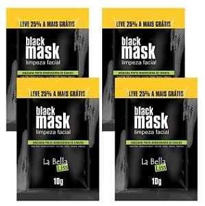 La Bella Liss - Black Mask Máscara Preta Removedora de Cravos 10g Kit com 4 unidades