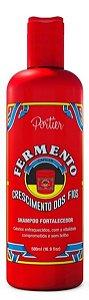 Portier - Fermento Crescimento dos Fios Shampoo Fortalecedor 500ml