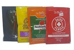 La Bella Liss - Cronograma Capilar Kit Cabelo Manteiga + Isotônico Capilar + Viúva Negra + SOS Salva Cabelo 50g Cada