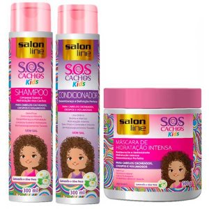 Salon Line - SOS Cachos Kids Shampoo 300ml + Condicionador 300ml + Máscara 500g