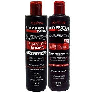 Plancton - Whey Protein Kit Shampoo Bomba + Condicionador 2x250ml