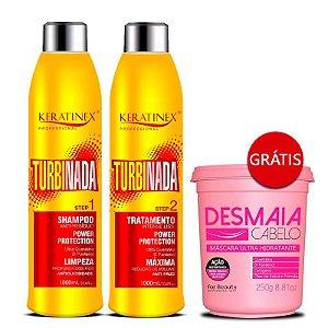 Keratinex - Progressiva Turbinada 2x1L GANHE Desmaia Cabelo For Beauty 250g