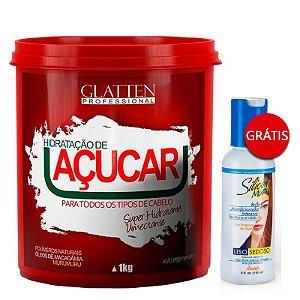 Glatten Professional - Hidratação de Açúcar 1kg GANHE Leave-in Avanti Silicon Mix 118ml
