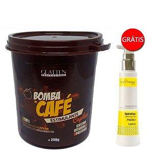 Glatten Professional - Bomba de Café Máscara 240g GANHE Leave-in Melão Fruit Therapy