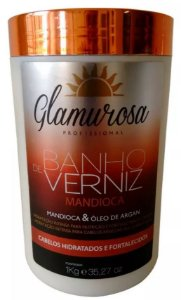 Glamurosa - Banho de Verniz Mandioca Máscara Reconstrutora 1kg