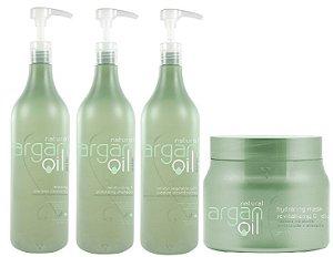 Felithi - Natural Argan Oil Kit Reconstrução e Hidratação Profissional