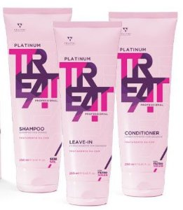 Felithi - Platinum Treat Kit Tratamento da Cor Shampoo, Condicionador e Leave-in 240ml Cada