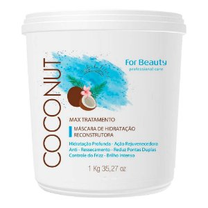 Maxtreatment CocoNut Máscara de Hidratação For Beauty 1kg