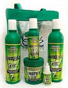 Crece Pelo - Tratamento Fitoterápico Natural de Crescimento Capilar Kit (Shampoo, Condicionador, Leave-in, Ampola, Máscara 454g)