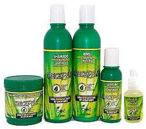 Crece Pelo - Tratamento Fitoterápico Natural de Crescimento Capilar Kit 5 Itens