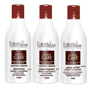 Forever Liss - Home Care Kit Uso Diário Manutenção Pós Progressiva (Shampoo, Condicionador, Leave-in)