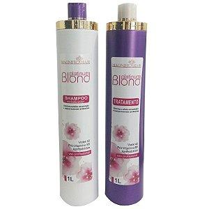 Magnific Hair - Blond Platinum Escova Progressiva Cabelos Loiros 1L cada