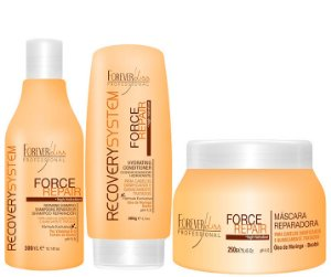 Forever Liss - Force Repair Kit Shampoo, Condicionador e Máscara Reconstrução Capilar Home Care