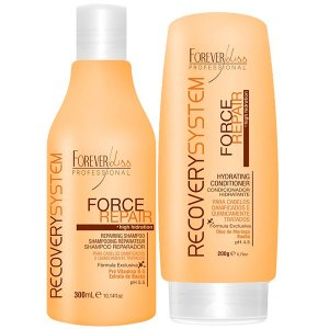 Forever Liss - Force Repair Kit Shampoo 300ml + Condicionador Reconstrução Capilar Home Care 200g