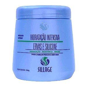 Sillage - Ervas e Silicone Máscara Capilar Hidratação Intensiva 500g