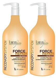 Forever Liss - Force Repair Kit Shampoo e Condicionador Profissional 1L cada