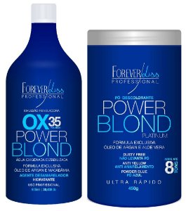 Forever Liss - Power Blond Platinum Kit Descoloração Ox 35 + Pó Descolorante