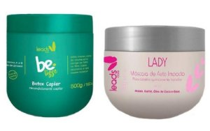 Leads Care - Kit Be Lizze 500g e Lady Máscara de Auto Impacto 300g
