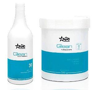 Magic Color - Glean Kit Descoloração Pó Descolorante e Água Oxigenada 30 Volumes
