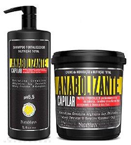 NatuMaxx - Kit Fortificante Capilar Shampoo Fortalecedor 1L e Máscara 1kg