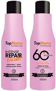 Top Master - Intense Repair Kit Reconstrutor 60 segundos (2 Passos) - Validade 03/2019