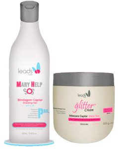 Leads Care - Kit Mary Help SOS 500ml e Glitter Cream Efeito Teia 500g