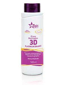 Magic Color - Gloss Matizador 3D Platinum Branco 500ml