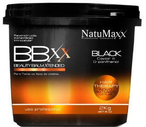 NatuMaxx - Beauty Balm Xtended Black 2Kgs Reconstrução Instantânea Caviar e D-Panthenol