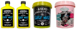 Lola Cosmetics - Kit Curly Wurly e Milagre Diet - Cachos Definidos